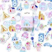 【BlueCat】小幸運金龜車盒裝貼紙 手帳貼紙(46入)