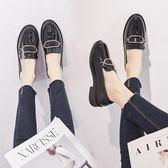 皮鞋女-英倫風皮鞋女休閒鞋子女2019新款春季新款豆豆的鞋平底單鞋 降價兩天