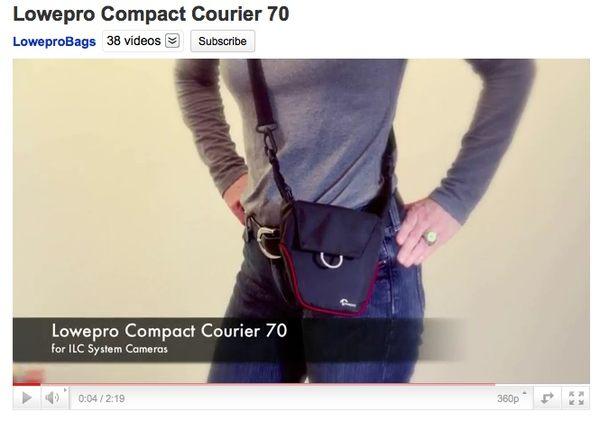 【A Shop】 Lowepro Compact Courier 70 信差輕巧包70-灰色◇專為GF.NEX設計