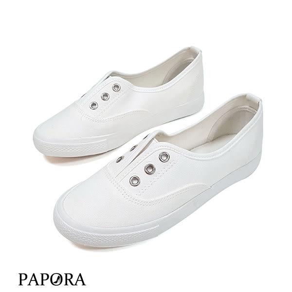 PAPORA懶人輕便休閒鞋KC161黑/米/白