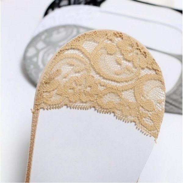 襪子【FSW058】時尚蕾絲淺口隱形短襪 隱形襪 短襪 螢光色 氣墊襪 純棉 毛巾襪 123ok