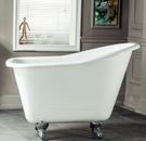 【麗室衛浴】BATHTUB WORLD 高級鑄鐵浴缸 1300*730*680mm  鉻腳