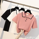 夏季新款韓版POLO寬鬆顯瘦大碼胖mm小個子短袖T恤女上衣ins潮 居家物語