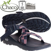Chaco ZCM01_HC22條紋彩 男越野運動涼鞋-Z1標準款休閒鞋