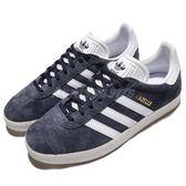 adidas 休閒鞋 Gazelle W 復古 藍 白 麂皮 復古奶油底 金標 運動鞋 女鞋【PUMP306】 BY9353