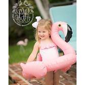 游泳圈 3至7歲用 加厚加大安全嬰幼兒童充氣火烈鳥坐騎動物游泳寶寶座圈 MKS薇薇