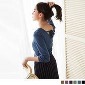 《AA7904》簡單品味~圓領七分袖後綁帶素面感造型上衣‧6色 OrangeBear