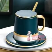 馬克杯 創意個性杯子陶瓷馬克杯帶蓋勺潮流情侶喝水杯男女家用咖啡杯
