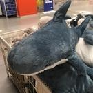 玩偶 鯊魚抱枕公仔毛絨玩具網紅可愛布娃娃床上睡覺玩偶靠墊生日禮物女TW【快速出貨八折搶購】