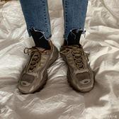 原宿風百搭街拍韓版ulzzang深咖色運動登山跑鞋女 安妮塔小舖