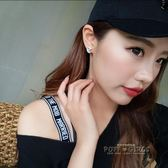 耳飾-韓版耳釘女氣質簡約鋯石月亮耳飾日韓版防過敏s銀耳針耳墜