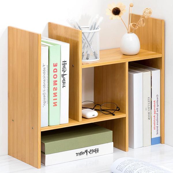 楠竹桌面置物架B款 可伸縮檯面架 桌上型置物架 文具雜物收納架【Y10284】快樂生活網