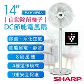 【夏普SHARP】14吋自動除菌離子DC節能風扇 PJ-H14PGA