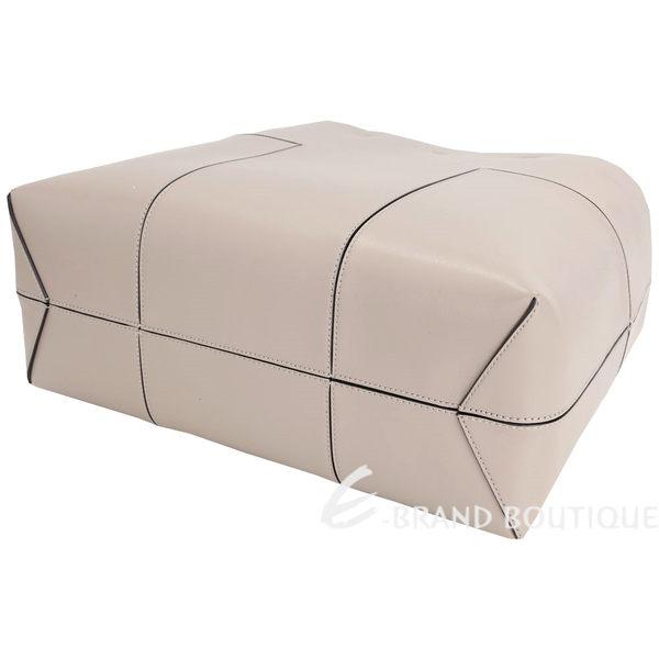 TORY BURCH BLOCK-T 對稱車縫設計托特包(淺灰色) 1620910-06