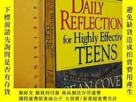 二手書博民逛書店英文原版罕見Daily Reflections For Highly Effective Teens by Sea