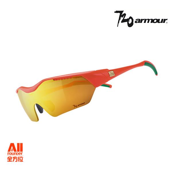 預購品【720Armour】720-Hitman(Asian-Fit)系列運動太陽眼鏡 冠軍金/亮澤螢桔(T948B229H) 全方位跑步概念館