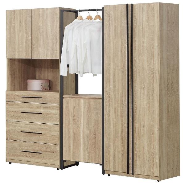 【森可家居】哈佛7.7尺組合衣櫃(4+2+5) 7JF042-2 衣櫥 MIT台灣製造