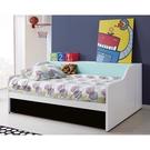 【森可家居】天天晴朗3.5尺單人床組 10JX357-1+2 床架+床邊側櫃 收納 兒童 北歐風 MIT台灣製造