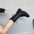 網紅馬丁靴女2020新款英倫風帥氣機車靴...
