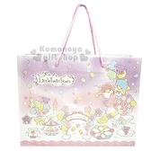 〔小禮堂〕雙子星 日製橫式手提紙袋《紫.遊樂園》包裝袋.送禮紙袋.銅板小物 4964694-39147