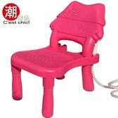 小可愛兒童洗頭椅-櫻桃紅