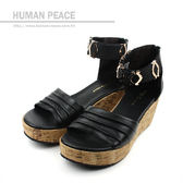 HUMAN PEACE 涼鞋 黑色 女鞋 no189