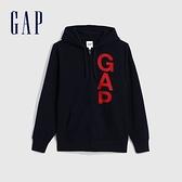 Gap男裝 Logo活力亮色連帽外套 624873-海軍藍
