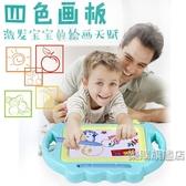 兒童彩色畫畫板磁性寫字板寶寶兒童1-3歲幼兒涂鴉板