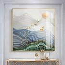 北歐裝飾畫現代簡約客廳正方形掛畫餐廳輕奢招財麋鹿壁畫玄關畫YYJ【快速出貨】