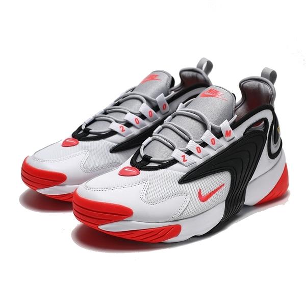 NIKE ZOOM 2K 白 橘紅 黑 復古運動鞋 慢跑鞋 男 (布魯克林)2019/5月 AO0269-105