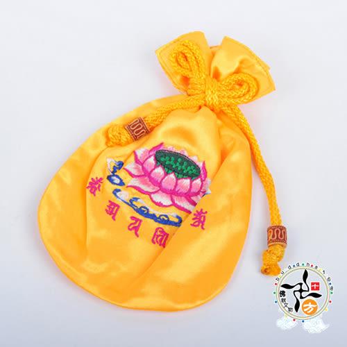 蓮花+六字真言念珠袋Y 【十方佛教文物】
