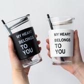 創意高硼矽玻璃杯女學生帶蓋杯子家用水杯咖啡杯送勺子 港仔會社