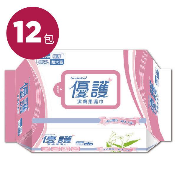 優護 潔膚柔濕巾,20x30cm (48抽,12包) 濕紙巾【杏一】廣促