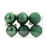 吊飾球6入組 深綠 6cm
