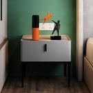床頭柜北歐風 ins極簡小戶型儲物收納床邊柜現代簡約抽屜柜烤漆柜【中秋節限時好禮】
