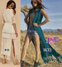 草魚妹-V299罩衫風麗針織長版罩衫可搭泳衣比基尼正品,單罩衫售價750元