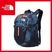 【The North Face 31L 15吋電腦背包《藍灰印花》】出國/旅遊/休閒