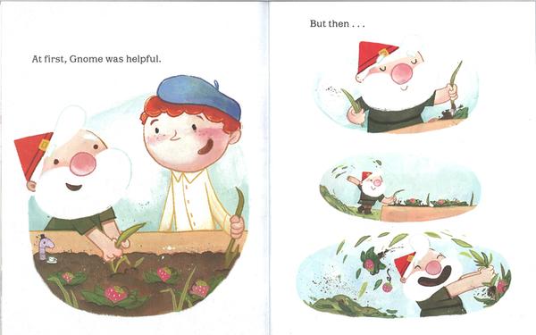 【麥克書店】NO, NO, GNOME! /英文繪本《主題:品格教育.禮儀》