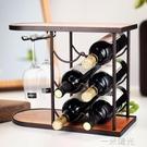 紅酒架擺件紅酒杯架倒掛家用酒櫃紅酒架實木木質紅酒櫃展示架 一米陽光