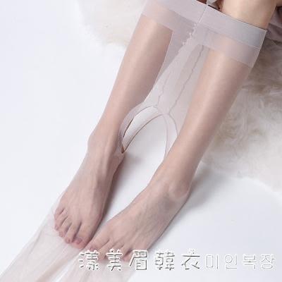 開檔絲襪0D超薄免脫隱形開襠式腳尖全透明性感黑色情趣肉色連褲女 漾美眉韓衣