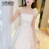 夏季吊帶洋裝子仙女超仙森系女裝夏裝年新款小個子顯瘦氣質 錢夫人