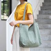 帆布袋 素色 簡約 手提包 帆布包 單肩包 環保購物袋--手提/單肩【ALSR111-2】 BOBI  10/10