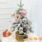 聖誕樹小型迷你桌面樹擺件家用發光60cm聖誕節裝飾品【淘嘟嘟】