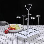 杯架不銹鋼水杯掛架玻璃杯奶瓶瀝水倒掛置物架茶杯架帶瀝水盤  名購居家