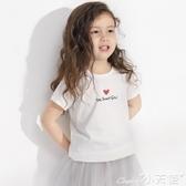 兒童T恤女童短袖T恤2020夏裝新款兒童純棉打底衫百搭潮 小天使