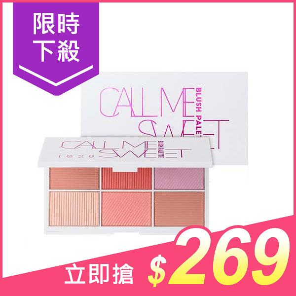 1028 腮紅控6色限量版頰彩盤(3.8gx6色)【小三美日】$680