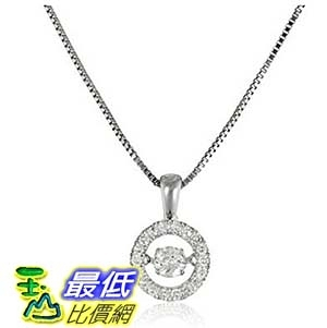 [美國直購] Dancing Diamond Circle Pendant Necklace (1/3cttw, I-J Color, I2-I3 Clarity), 18 + 2 extender 項鍊