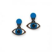 Yazbukey 藍眼睛耳環