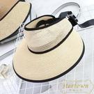 草帽半空頂帽遮陽帽防曬太陽帽子百搭韓版沙灘【繁星小鎮】