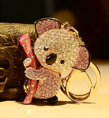 MissGirl*卡哇伊就想賴著你澳洲無尾熊鑰匙扣-黃色金1103043-3